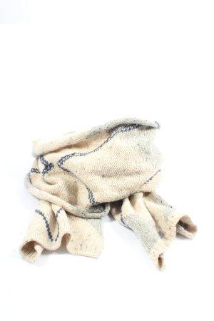 Roeckl Bufanda de punto crema-azul estampado a rayas look casual