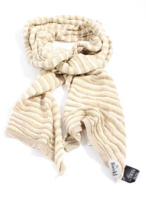 Roeckl Écharpe en tricot blanc cassé-crème motif rayé style décontracté
