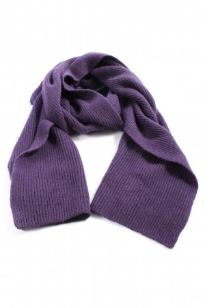 Roeckl Écharpe en tricot violet style décontracté