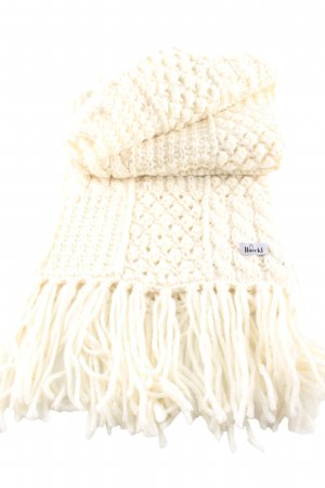 Roeckl Strickschal creme Zopfmuster Casual-Look