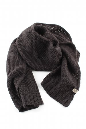 Roeckl Gebreide sjaal bruin kabel steek casual uitstraling