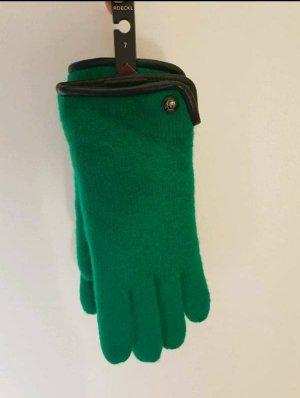 Roeckl Guantes con dedos negro-verde