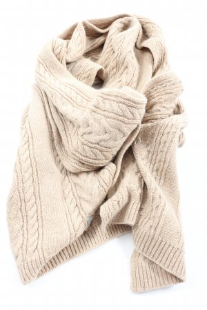 Roeckl Wełniany szalik kremowy Warkoczowy wzór W stylu casual