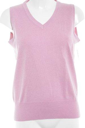 Röhnisch Feinstrickpullunder rosa klassischer Stil