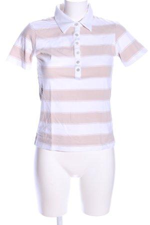 Röhnisch Polo-Shirt weiß-creme Allover-Druck Casual-Look