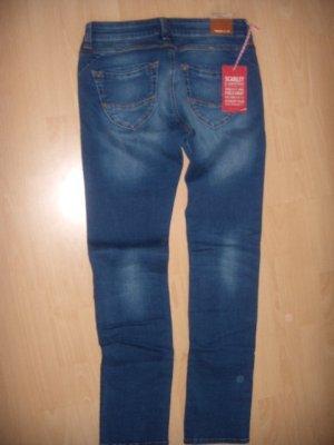 Cross Skinny Jeans dark blue-blue cotton