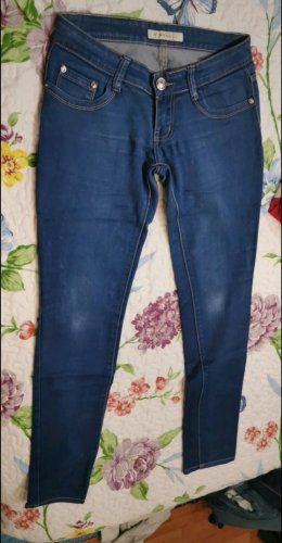 By Sasha Spodnie rurki niebieski