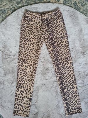 Pantalón de tubo negro-marrón