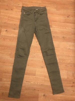 H&M Pantalon cigarette gris vert