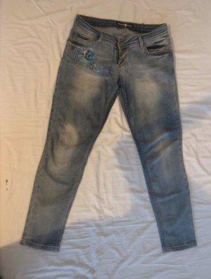 Philipp Plein Jeans a sigaretta multicolore