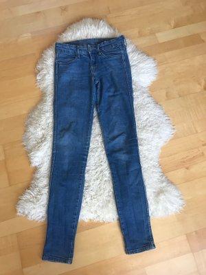 H&M Hoge taille jeans korenblauw-blauw