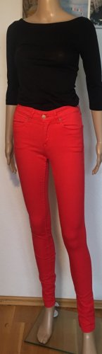 H&M Divided Five-Pocket Trousers red