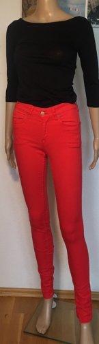 H&M Divided Pantalon cinq poches rouge