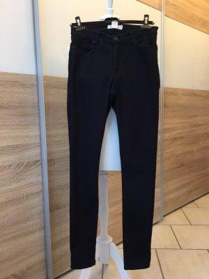 H&M L.O.G.G. Pantalone a sigaretta blu scuro