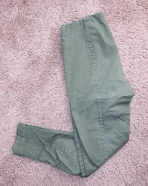 H&M Stretch Trousers green grey