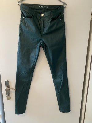 Orsay Pantalon en cuir vert foncé