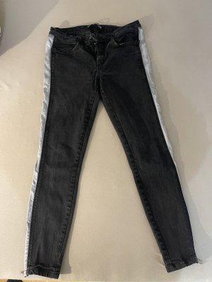 Zara Trafaluc Pantalone a sigaretta nero-grigio