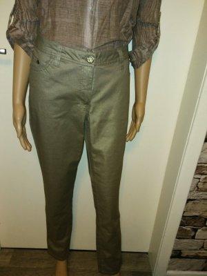 Spodnie rurki zielono-szary-trawiasty Tkanina z mieszanych włókien