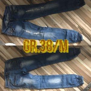 Forever 18 Jeansy biodrówki błękitny
