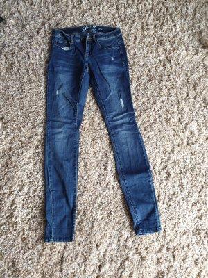 Only Jeans cigarette bleu foncé