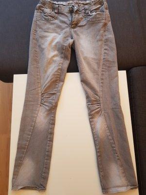 okay Jeans cigarette gris