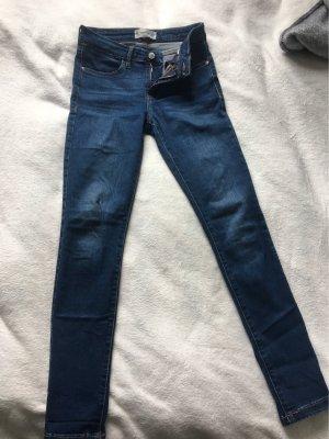 Mango Jeans cigarette bleu foncé