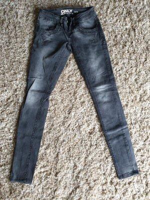 Only Jeans cigarette gris foncé