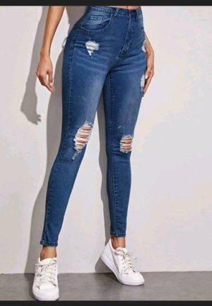 Sheinside Jeans a sigaretta blu
