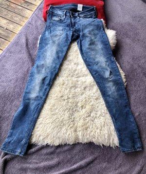 & DENIM Drainpipe Trousers multicolored