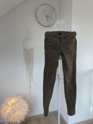 H&M Drainpipe Trousers ocher
