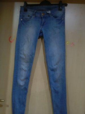 H&M Pantalón de tubo azul acero