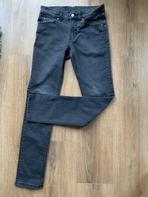 Cheap Monday Jeans a sigaretta antracite-grigio scuro