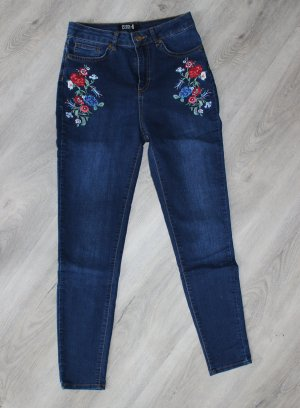 Even & Odd Tube jeans donkerblauw-donkerrood