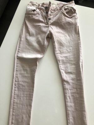 Röhrenjeans rosa Gr. XS (34)