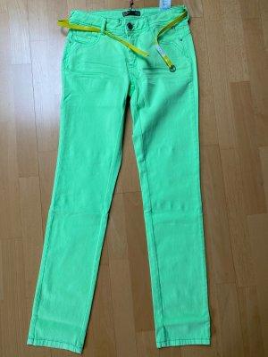Röhrenjeans von Comms neon grün