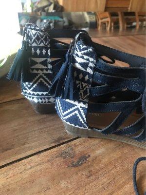 Graceland Romeinse sandalen donkerblauw-wit