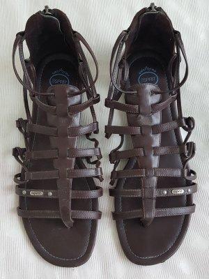 Esprit Romeinse sandalen donkerbruin Leer