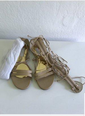 Daisy Street Roman Sandals camel leather