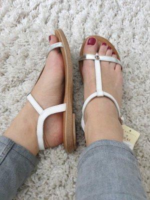 Lasocki Sandalo toe-post bianco-argento