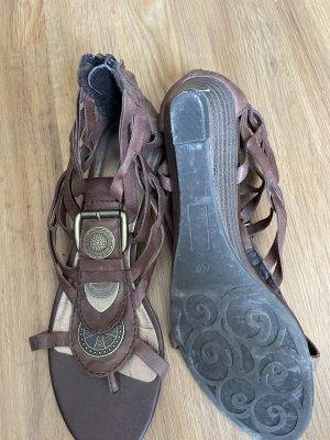 Tamaris Sandały rzymskie brązowy-złoto