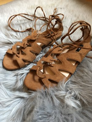 Mango Roman Sandals brown-light brown