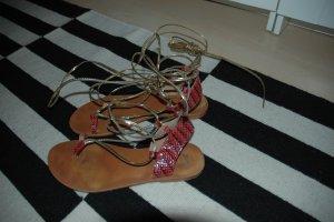 Asos Romeinse sandalen magenta-goud