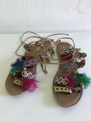 Glamorous Roman Sandals multicolored leather