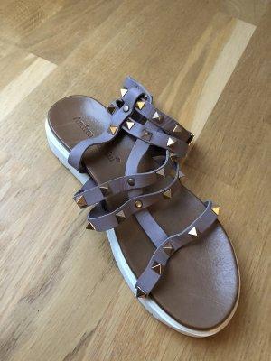 Andrea Sabatini Romeinse sandalen grijs-paars-mauve