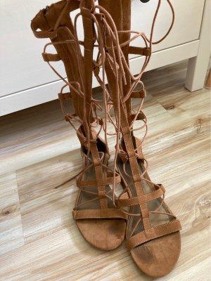 Tamaris Sandalias romanas coñac-marrón