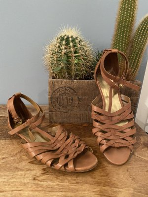 Guess Roman Sandals brown-gold-colored