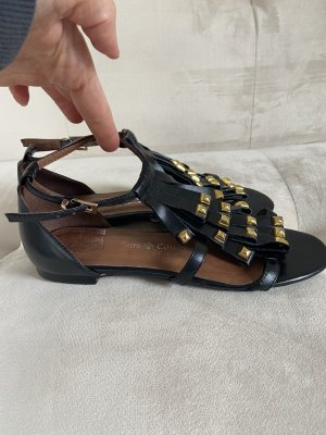 Friis & Company Roman Sandals black-gold-colored