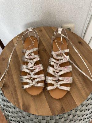 Roman Sandals light grey leather