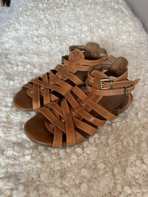 Janet D Roman Sandals cognac-coloured-brown