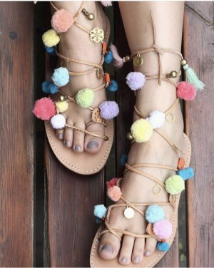 Roman Sandals multicolored leather